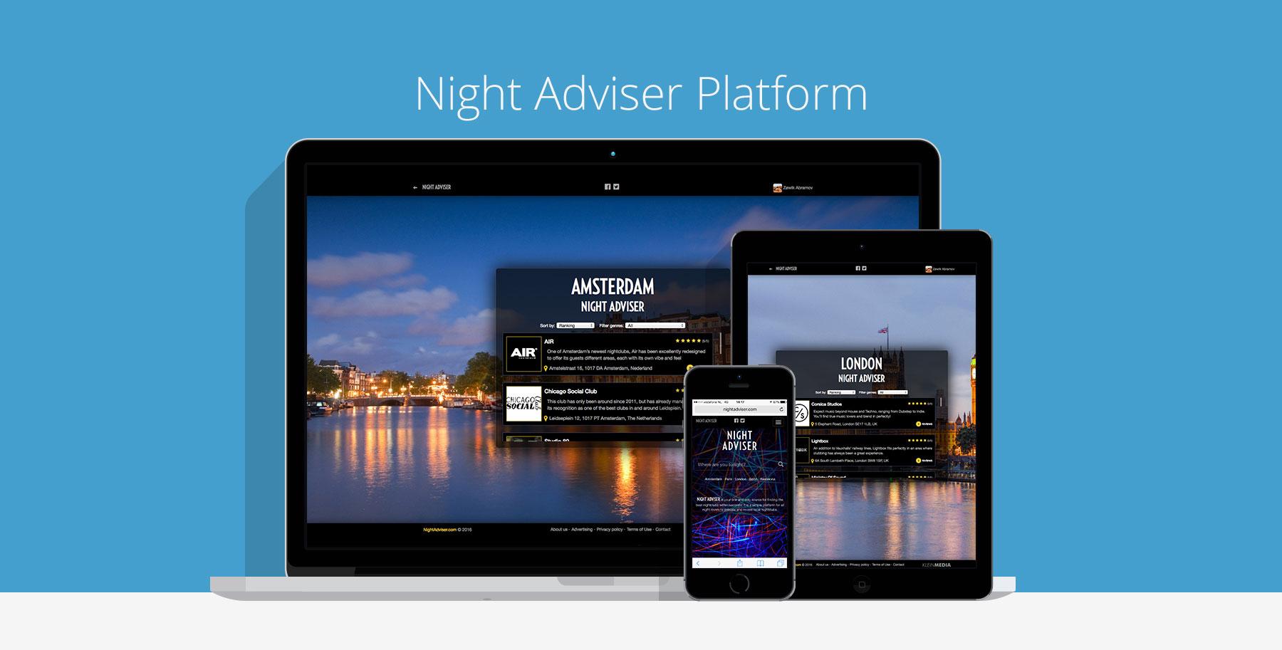 Night Adviser platform custom cms website