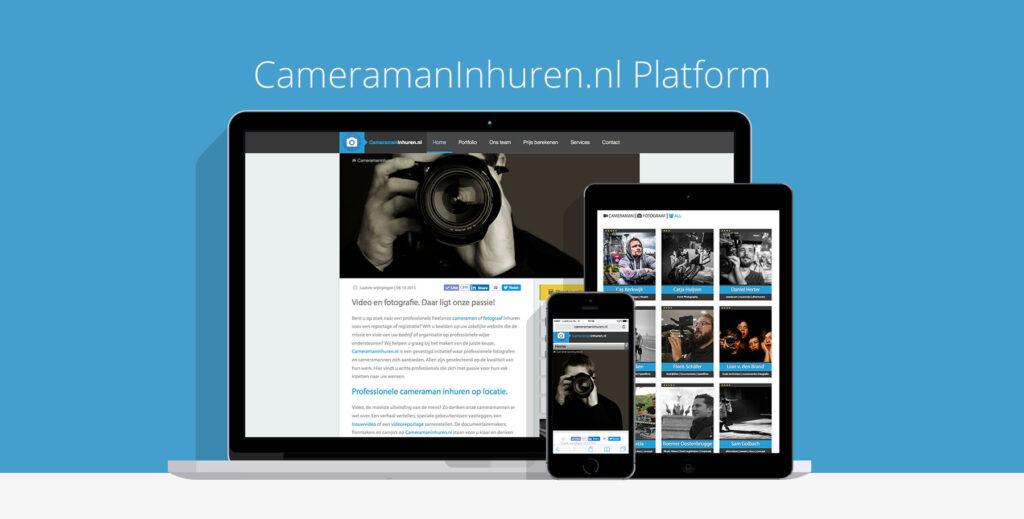 cameraman inhuren website design