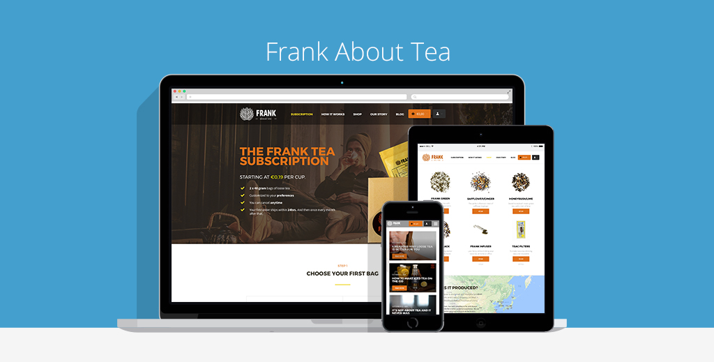 Frank About Tea Webdesign