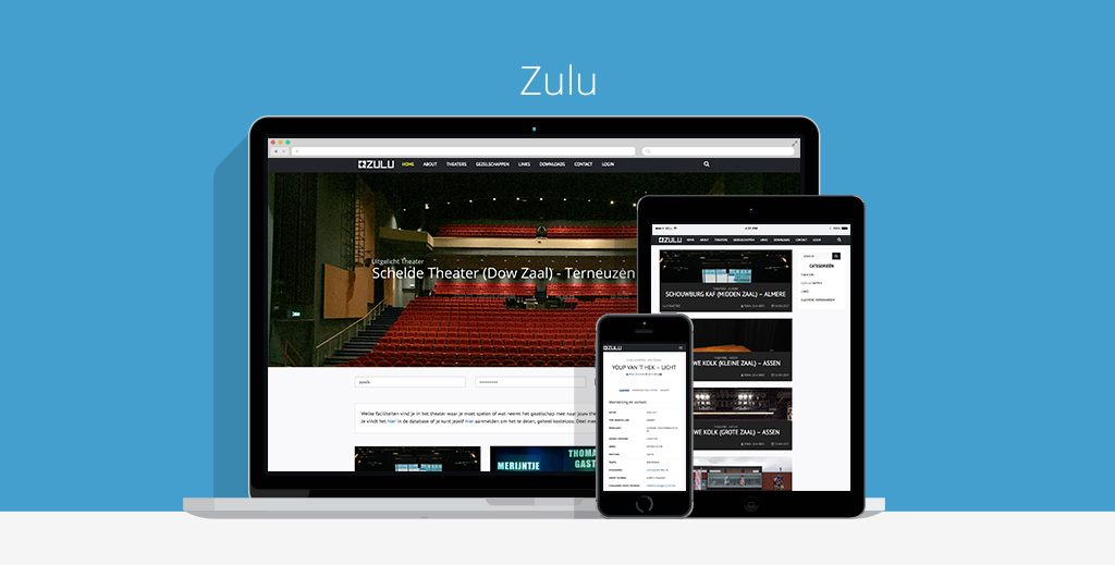 Zulu theaters Webdesign