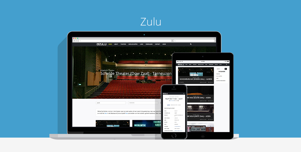 Zulu theaters Webdesign
